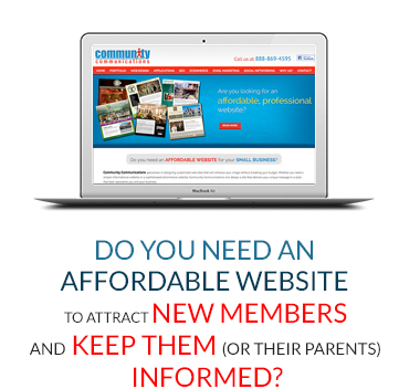 Do You Need An Affordable Website To attract New Members and Keep Them (or their parents) Informed?
